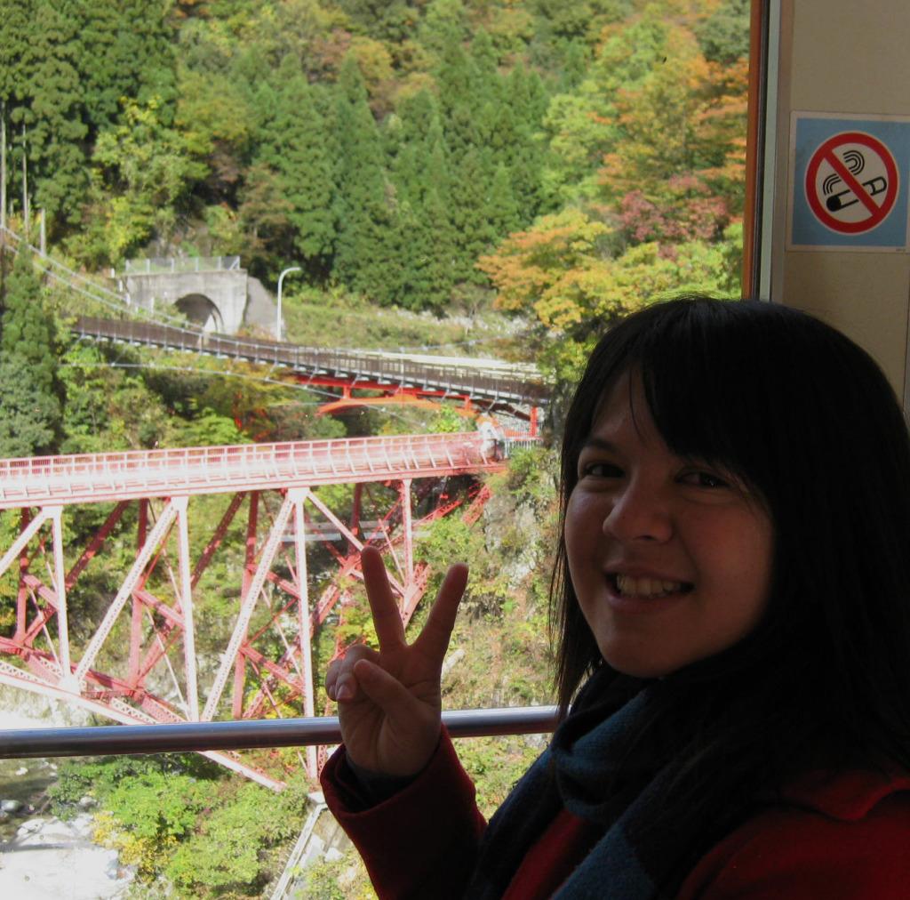 Going across the famous bridge