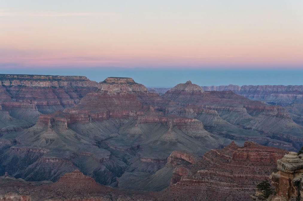 Blue Sunset at the Grand Canyon