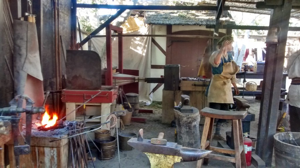 Yes, they had a blacksmith on site