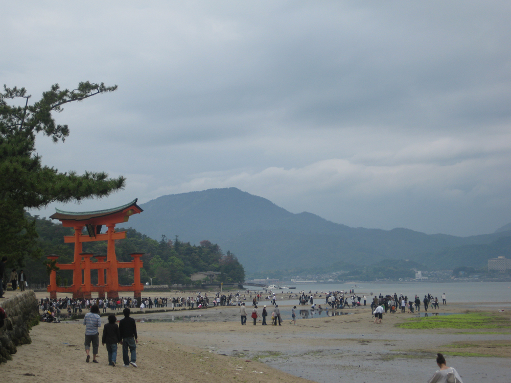 The Tori gate when the tide is low