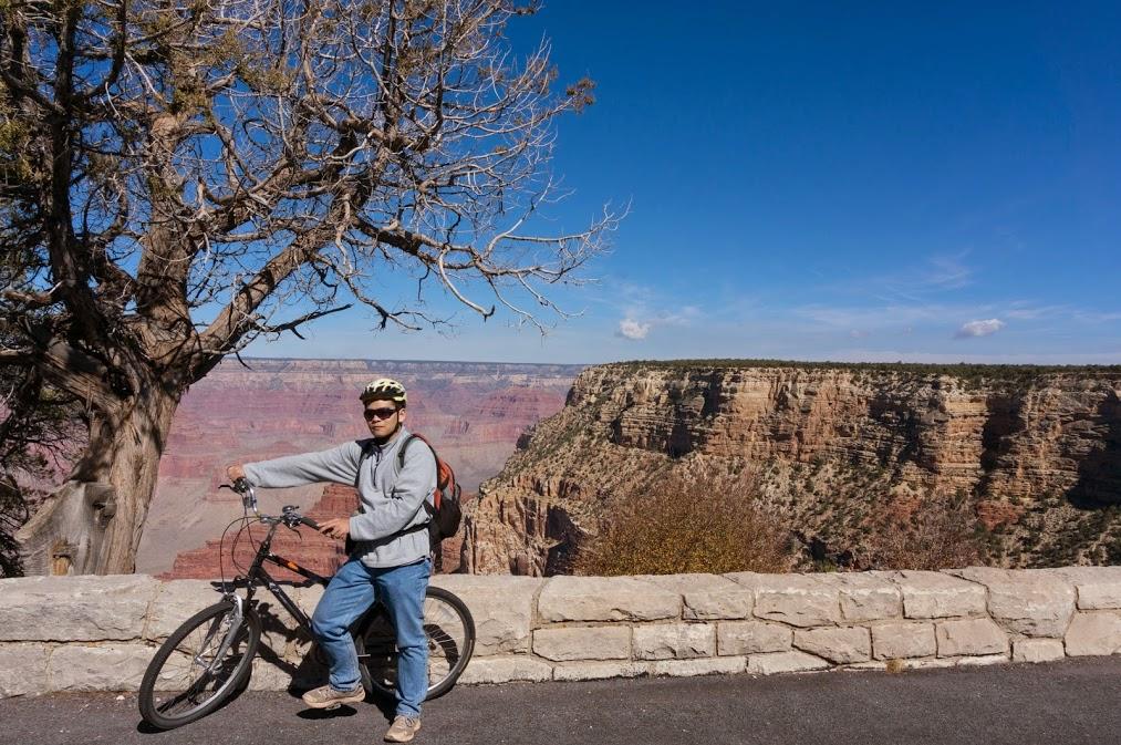 My man rockin the bike at Grand Canyon