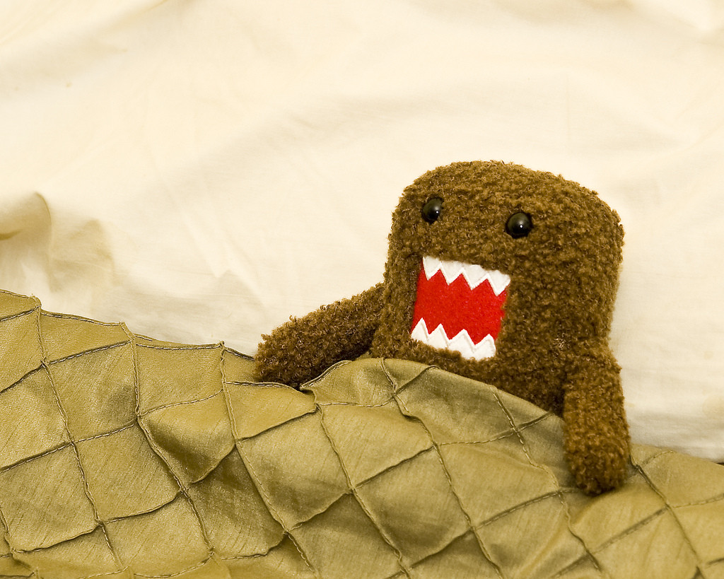photo credit: All tucked in and ready for bed via photopin (license) Domo Kun
