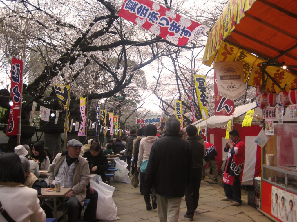sakura food stalls